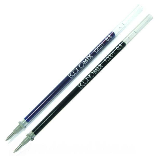 """Стержень для гелевой ручки """"Economix"""" синий, черный"""