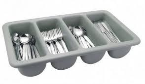 Ящик пластиковый четырехсекционный для хранения столовых приборов 510*280*90 мм (шт) 1311