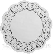 Салфетки бумажные круглые ажурные Ø 300 мм (уп 100 шт) 0250