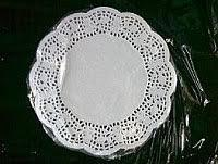 Салфетки бумажные круглые ажурные Ø 90 мм (уп 100 шт) 0247