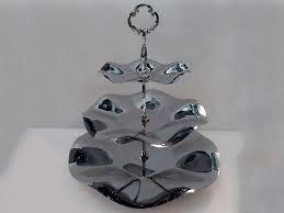 Конфетница{фруктовница} трёхъярусная нержавеющая круглая H 340 мм  (шт) 1331