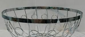 Корзина {ваза} нержавеющая круглая для фруктов H 100 мм (шт) 1326