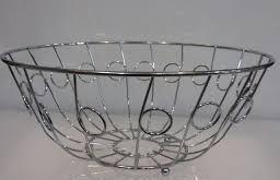 Корзина {ваза} нержавеющая круглая для фруктов H 105 мм (шт) 1327