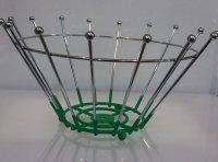 Корзина {ваза} нержавеющая круглая для фруктов H 140 мм (шт) 1324