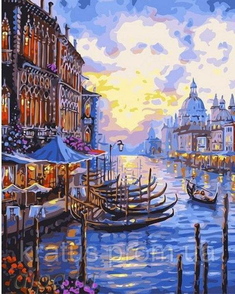 Фото Картины на холсте по номерам, Городской пейзаж GX 30326 Венецианский пейзаж Картина по номерам 40х50см без коробки, в пакете