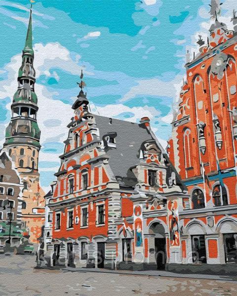 Фото Картины на холсте по номерам, Городской пейзаж GX 30458 Тихий город Картина по номерам 40х50см без коробки, в пакете