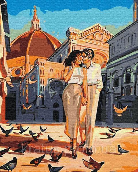 Фото Картины на холсте по номерам, Романтические картины. Люди KGX 30468 Любовь и голуби Картина по номерам 40х50см