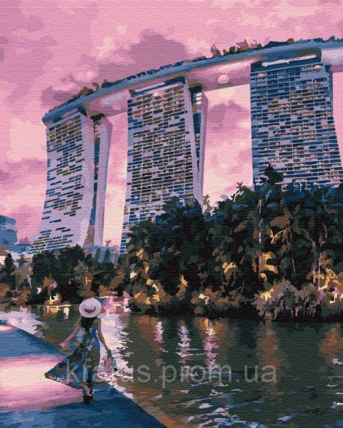 Фото  PGX 29745 Вечер в Сингапуре Premium 40x50см