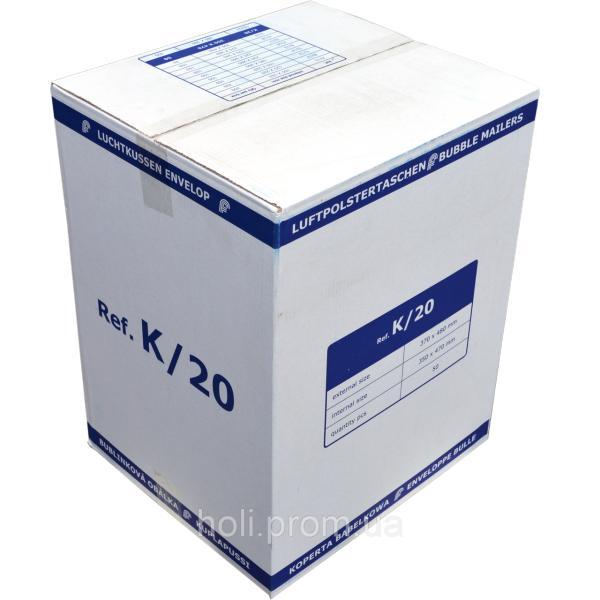 Бандерольный конверт K20, 50 шт, Польша Белый
