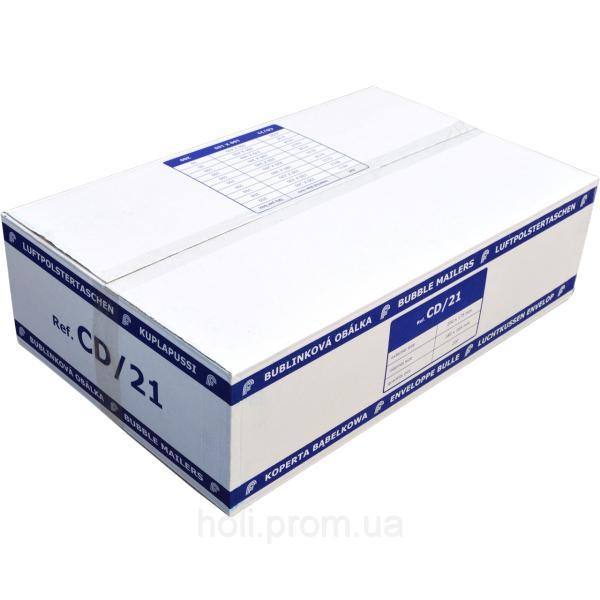 Бандерольный конверт CD21, 200 шт, Польша Белый