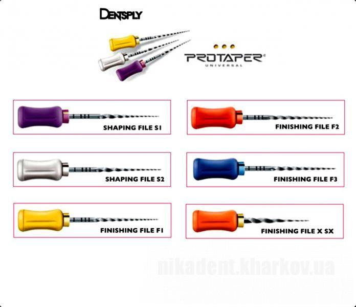 Фото Для стоматологических клиник, Эндоинструменты Протейперы ручные (ProTaper for Hand Use), Maillefer Dentsply 1 шт