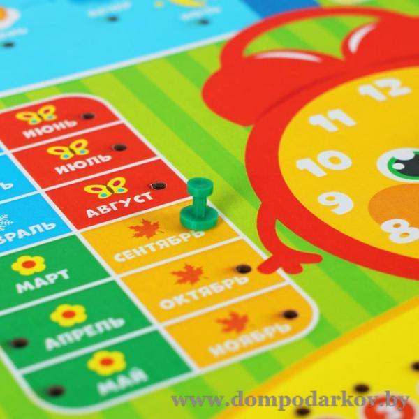 Фото ПОСМОТРЕТЬ ВЕСЬ КАТАЛОГ, Всё для детей, Игрушки , Игрушки / разное Обучающая доска, календарь