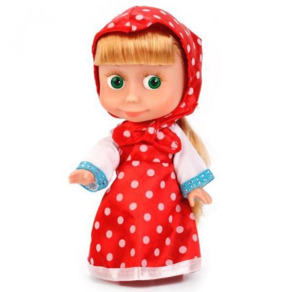 """Кукла """"Маша"""" в платье в горох, звуковые функции, 15 см"""