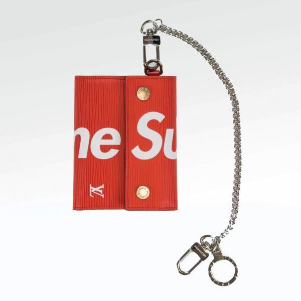 Кошелёк для монет Louis Vuitton X Supreme Red Epi Leather