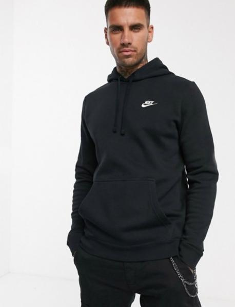Толстовка Nike утепленная с начесом черная