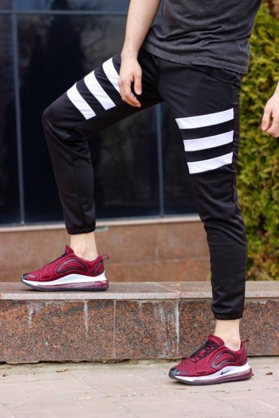 Спортивные штаны LC - Flip черно-белые