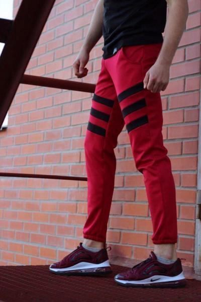 Спортивные штаны LC - Flip красный с черным