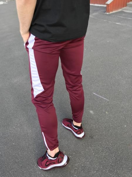 Спортивные штаны LC - Jet бордо с белым