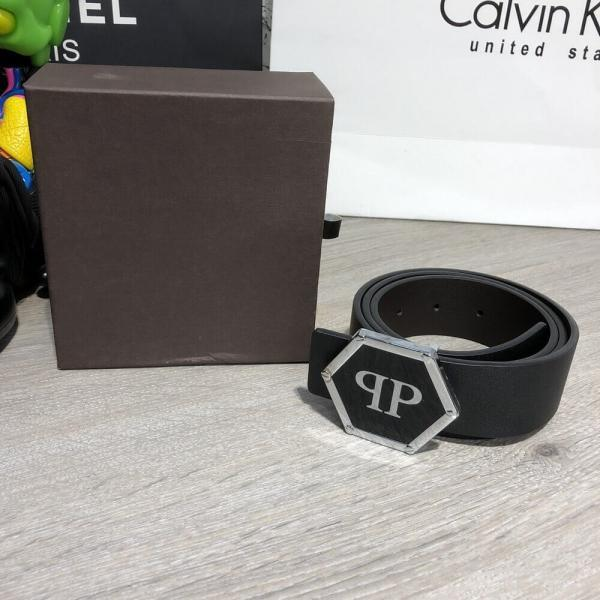 Belt Philipp Plein Dakota Leather Black