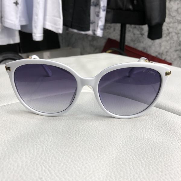 Miu Miu Sunglasses Reveal White/Breeze
