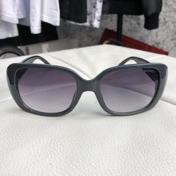 Chanel Sunglasses Butterfly Doble C Tile Gray/Black