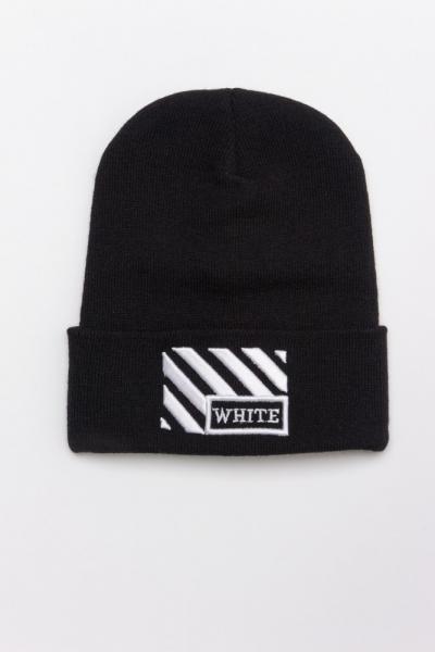 Зимняя шапка OFF WHITE Line черная