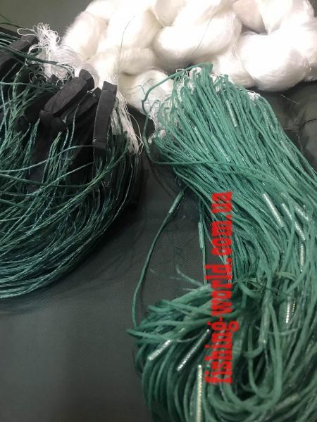 Фото Сети (ДЛЯ ПРОМЫШЛЕННОГО ЛОВА), Сети рыболовные одностенные (для промышленного лова), Вшитый груз Сетка рыболовная (леска,одностенка,вшитый груз 100*3м,55 ячейка)Для прмышленного лова