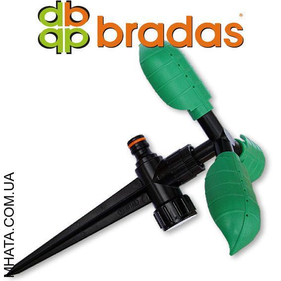 Ороситель вращающийся с тремя листочками, на колышке,  Bradas ECO-PW3325