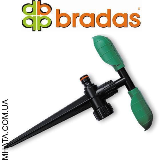 Ороситель вращающийся с двумя листочками, на колышке,  Bradas ECO-PW3345