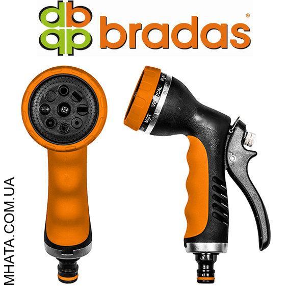 Пистолет для полива HOBBY металлический BRADAS ECO-2048, 8 режимов