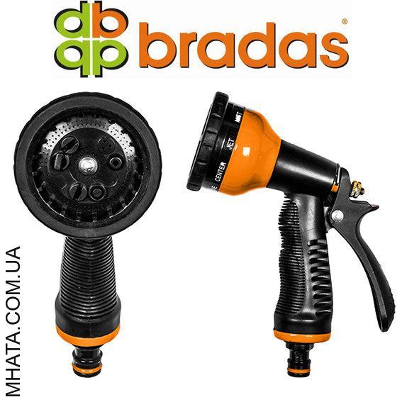 Пистолет для полива PROFI металлический BRADAS ECO-KT4656B, 9 режимов