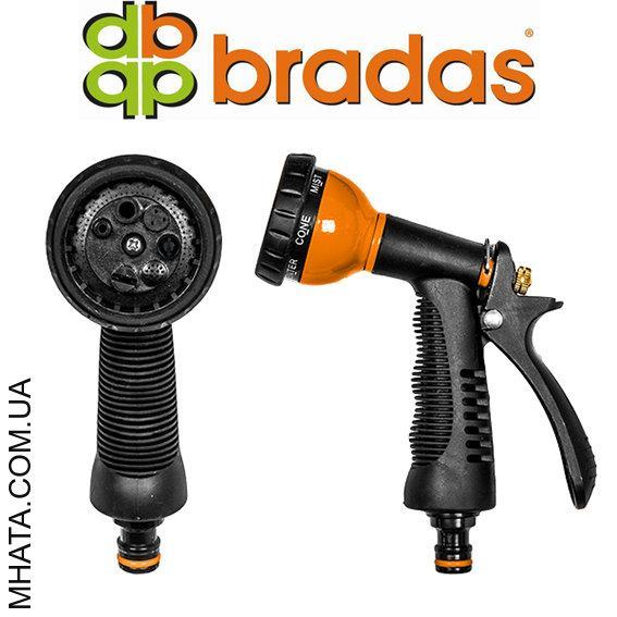 Пистолет для полива PROFI металлический BRADAS ECO-KT615, 7 режимов