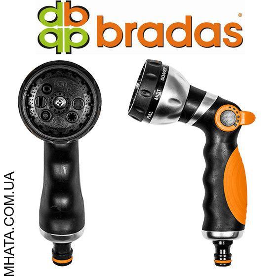 Пистолет для полива металлический BRADAS ECO-2038, 8 режимов