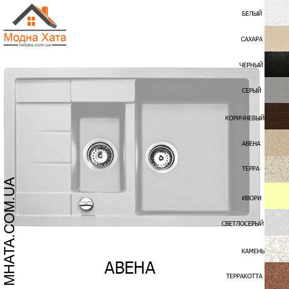 """Кухонная гранитная мойка """"Адамант"""" ANILA PLUS 780*500*200 (левая или правая)"""