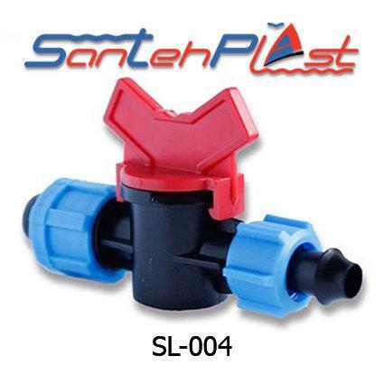 Кран стартовый c поджимом для капельной ленты  DN17(КСП 17) Арт. SL-004