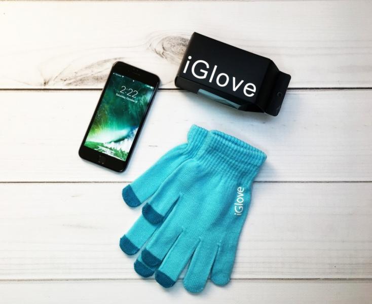 Перчатки iGlove blue
