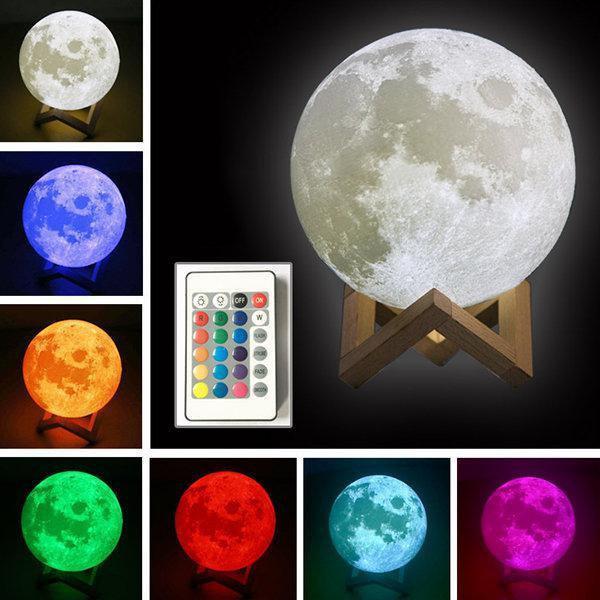 Настольный светильник-ночник Луна с пультом