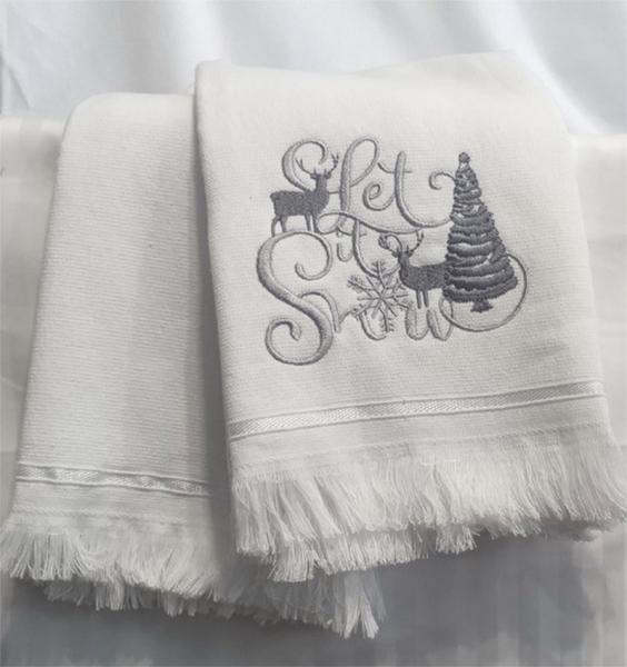 Фото ПОЛОТЕНЦА, Кухонные полотенца Набор полотенец 50*70 (2шт) Серебро