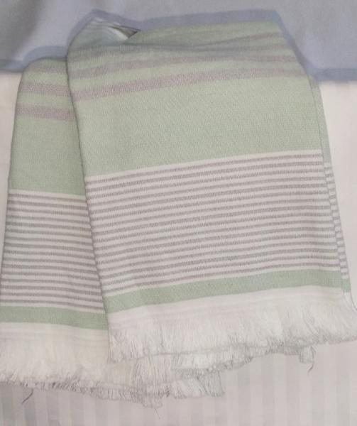 Набор полотенец 50*70 (2шт) Полоса зел.