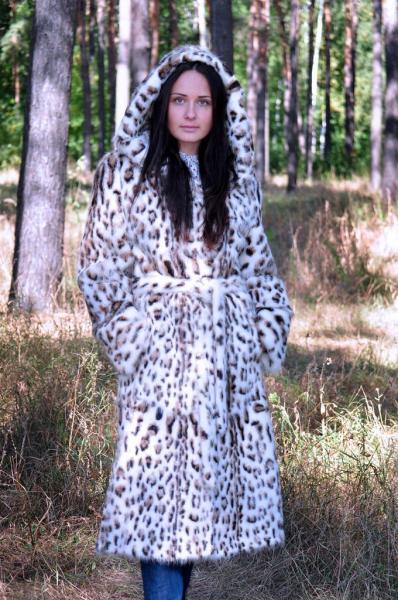 Пальто из стриженой нутрии с накаткой полинезийский кот