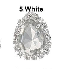 Фото Серединки ,кабашоны, Серединки с жемчугом и стразами Металическая  основа  19 * 25 мм.  с  каплей   Белого   цвета  в  цапах   с  серебряной  цепочкой  и  белыми  стразами.