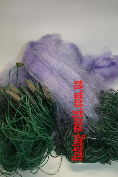 Фото Сети (ДЛЯ ПРОМЫШЛЕННОГО ЛОВА), Сети рыболовные одностенные (для промышленного лова), Вшитый груз Сетка рыболовная(синяя,одностенная,вшитый груз,леска)100*1.8м;30 ячейка