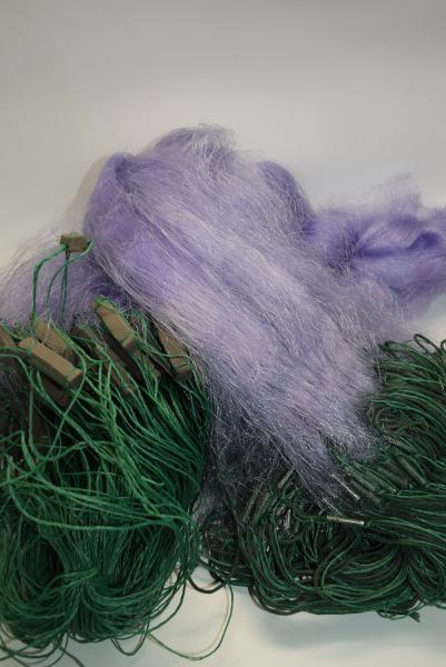 Сетка рыболовная(синяя,одностенная,вшитый груз,леска)100*1.8м;35 ячейка