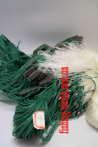 Фото Сети (ДЛЯ ПРОМЫШЛЕННОГО ЛОВА), Сети рыболовные одностенные (для промышленного лова), Груз дробинка Сеть рыболовная  (НИТКА, одностенная, ДРОБИНКА ) 1.8х100 ячейка 30