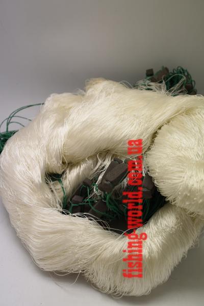 Фото Сети (ДЛЯ ПРОМЫШЛЕННОГО ЛОВА), Сети рыболовные одностенные (для промышленного лова), Груз дробинка Сеть рыболовная  (НИТКА, одностенная, ДРОБИНКА ) 1.8х100 ячейка 35
