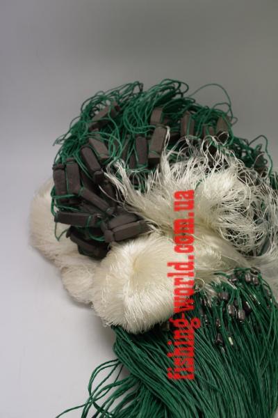 Фото Сети (ДЛЯ ПРОМЫШЛЕННОГО ЛОВА), Сети рыболовные одностенные (для промышленного лова), Груз дробинка Сеть рыболовная  (НИТКА, одностенная, ДРОБИНКА ) 1.8х100 ячейка 40
