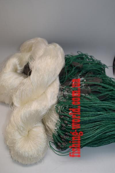 Фото Сети (ДЛЯ ПРОМЫШЛЕННОГО ЛОВА), Сети рыболовные одностенные (для промышленного лова), Груз дробинка Сеть рыболовная  (НИТКА, одностенная, ДРОБИНКА ) 1.8х100 ячейка 60