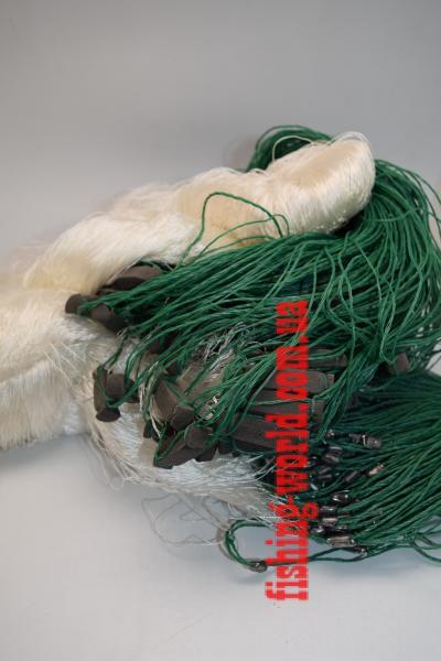 Фото Сети (ДЛЯ ПРОМЫШЛЕННОГО ЛОВА), Сети рыболовные одностенные (для промышленного лова), Груз дробинка Сеть рыболовная  (НИТКА, одностенная, ДРОБИНКА ) 1.8х100 ячейка 80