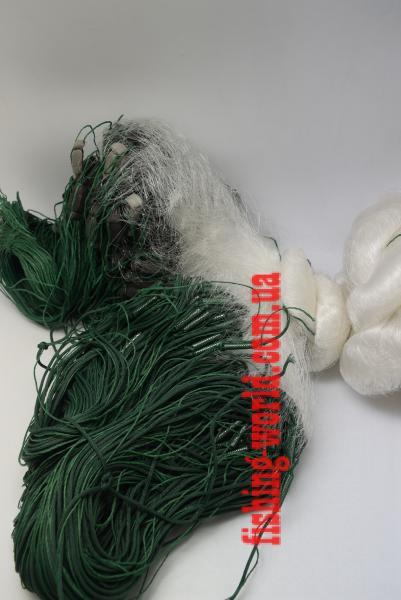 Фото Сети (ДЛЯ ПРОМЫШЛЕННОГО ЛОВА), Сети рыболовные одностенные (для промышленного лова), Вшитый груз Сеть рыболовная   (одностенная, вшитый груз, белая)  100х1.8 м ячейка 20,25,30 ДЛЯ ПРОМЫШЛЕННОГО ЛОВА