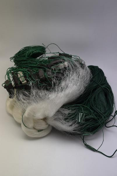 Сеть рыболовная   (одностенная, вшитый груз, белая)  100х1.8 м ячейка 45 ДЛЯ ПРОМЫШЛЕННОГО ЛОВА